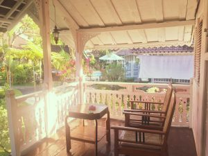 Bali - Puri Tempo Doeloe terrasse