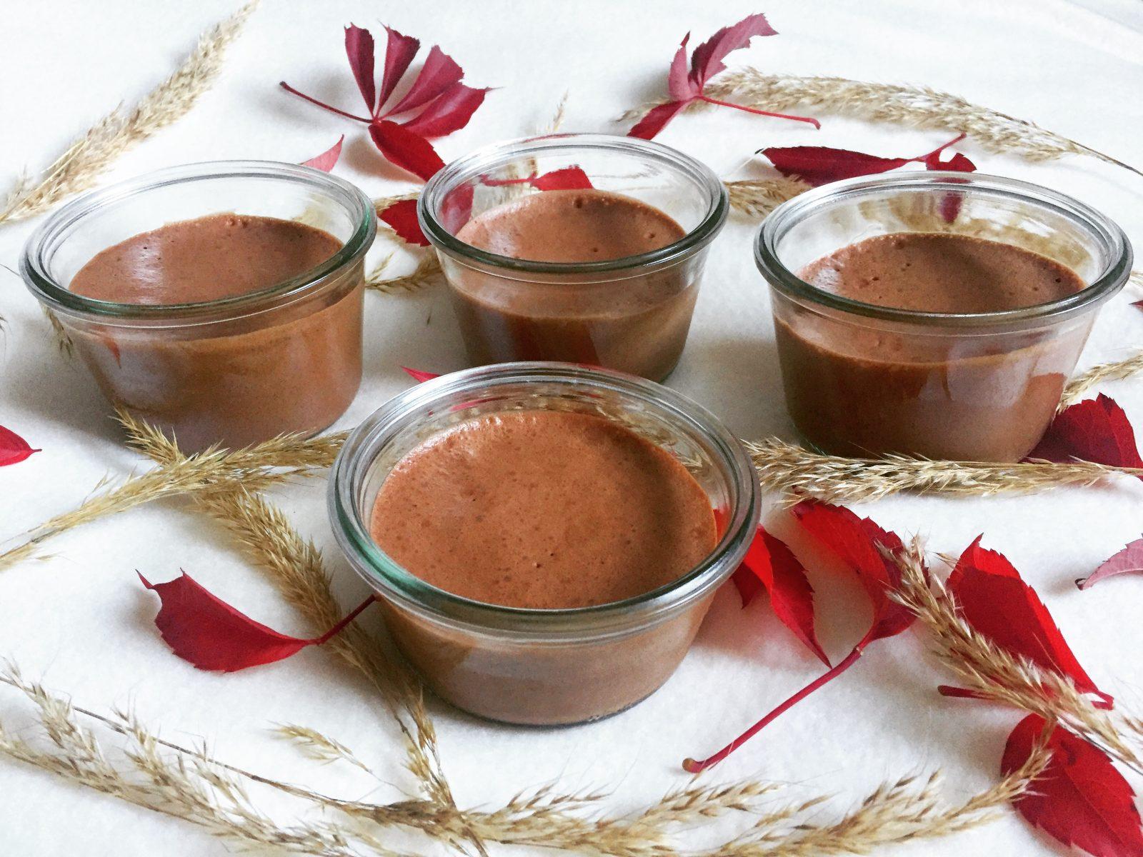 Mousse au chocolat - végétale, vegan, sans gluten