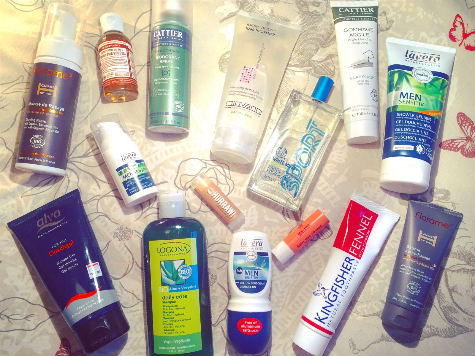 Mon homme aussi utilise des cosmétiques vegan et cruelty-free!!!