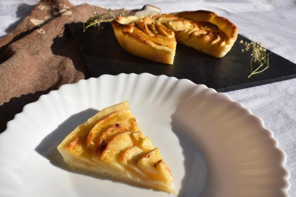 Tarte aux pommes légère et facile {vegan et sans gluten}