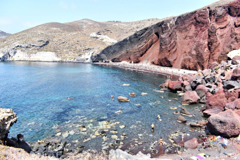 Les plages de Santorin, aux Cyclades - Grèce