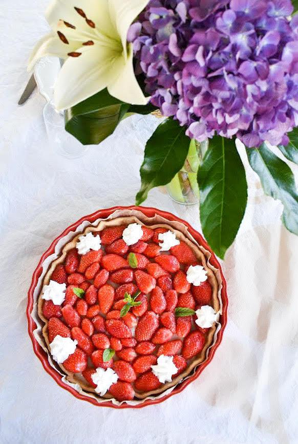 Recette maison de tarte au fraises végane, option sans gluten